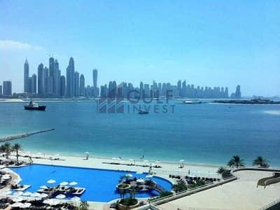 فلیٹ 1 غرفة نوم للايجار في نخلة جميرا، دبي - Amazing sea view! Unfurnished / Well maintained