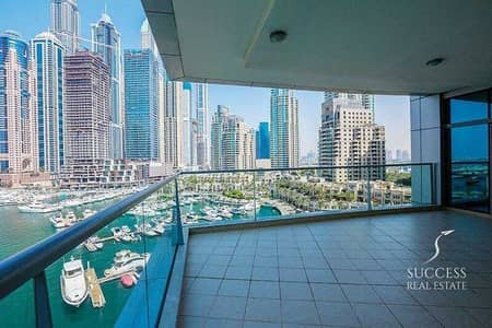 3 Bedroom Apartment for Rent in Dubai Marina, Dubai - Fully Furnished 3 BR+M+S | Full Marina View