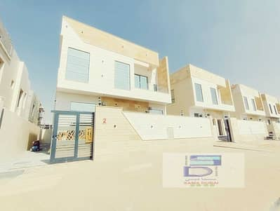 5 Bedroom Villa for Sale in Al Yasmeen, Ajman - Villa for sale on a street corner in a very privileged location, with European design and high-quality finishes, freehold for all nationalities