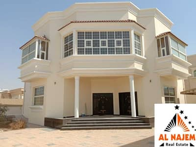 7 Bedroom Villa for Sale in Al Hamidiyah, Ajman - Selling a luxury villa without down payment with electricity, water and central air conditioning on the main street in the Hamidiya area in Ajman with