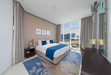 2 Bedroom Flat for Rent in Business Bay, Dubai - Fully Furnished and Serviced Apartment | All Bills Included