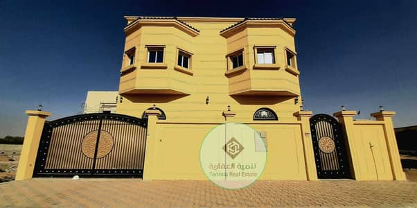 6 Bedroom Villa for Sale in Al Yasmeen, Ajman - For sale villa without commission at a snapshot price with the best European designs and finishes, close to all services, large areas