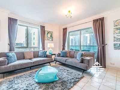 3 Bedroom Flat for Rent in Dubai Marina, Dubai - Living Room