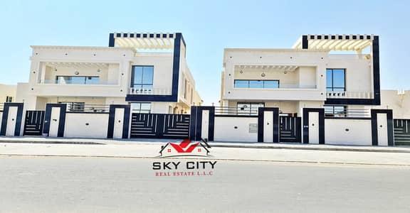 5 Bedroom Villa for Sale in Al Raqaib, Ajman - Full stone villa, distinctive European design and personal finishing