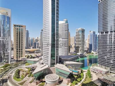 1 Bedroom Flat for Rent in Jumeirah Lake Towers (JLT), Dubai - Lake view   Near Metro   Higher Floor   Furnished