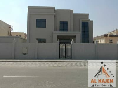 6 Bedroom Villa for Sale in Hoshi, Sharjah - For sale, a very luxurious villa with an external extension, central adaptation, with electricity and water without down payment in Al-Hoshi area in S