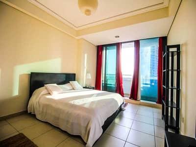 Studio for Rent in Jumeirah Lake Towers (JLT), Dubai - Furnished- Partial View of lake & Jumeirah Islands