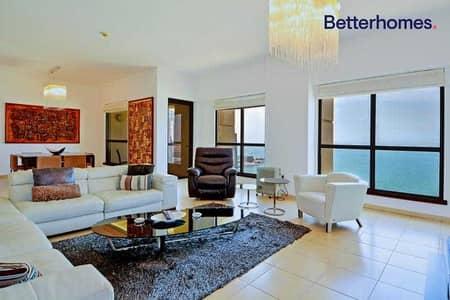 شقة 4 غرف نوم للبيع في جميرا بيتش ريزيدنس، دبي - Full Sea View   High Floor   Bright   Maids Room