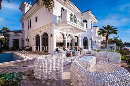 فیلا 5 غرف نوم للايجار في نخلة جميرا، دبي - Private Beach Access | Furnished | Sea View