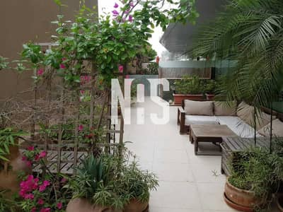 2 Bedroom Flat for Rent in Al Raha Beach, Abu Dhabi - Furnished   Ground Floor Unit with Huge Ground Terrace .
