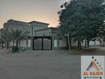 3 Bedroom Villa for Sale in Al Mowaihat, Ajman - Sale villa, ground floor, corner stone, street, with electricity, water and air conditioners in Al Mowaihat 3 area in Ajman with the possibility of ba