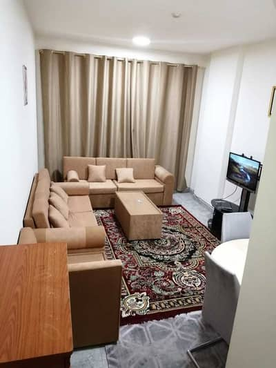 1 Bedroom Flat for Rent in Al Nuaimiya, Ajman - Furnished apartment one room and a hall for monthly rent in Al Nuaimiya area Ajman Emirate Kuwait Street available on November 1