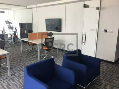 Office for Rent in Business Bay, Dubai - Fitted   Partitions   Internal WC Pantry
