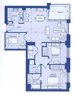 South Block 3 Bedroom Suite 2