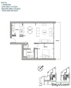 1 Bedroom Apt