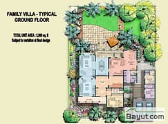 Typical 4 Bed Family Villa Ground Floor