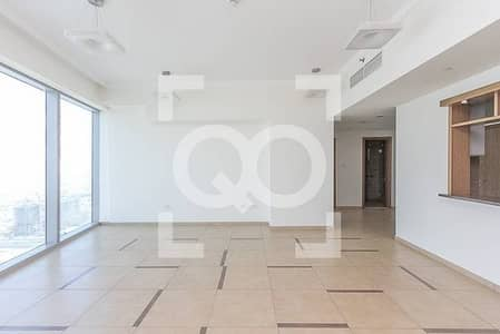 2 Bedroom Flat for Rent in Downtown Dubai, Dubai - Sea View and SZR View|High Floor|Chiller & Maintenance Free