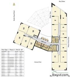 Floors (13-19,23-26) Type 1