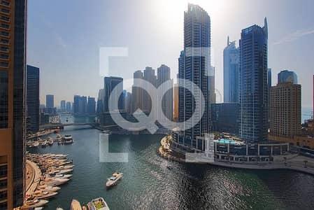 3 Bedroom Apartment for Sale in Dubai Marina, Dubai - 3 BDR Large and Spacious Panoramic Marina View 