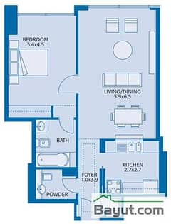 Typical 1 Bedroom 4th to 34th Floor