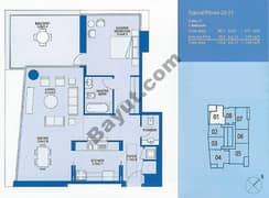 Typical 1 Bedroom 28th to 31st Floor