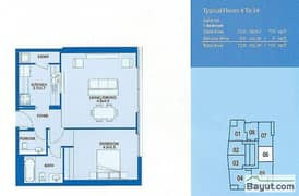 Typical 1 Bedroom Suite 6 4th to 34th Floor