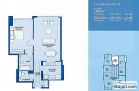 Typical 1 Bedroom Suite 8 4th to 34th Floor