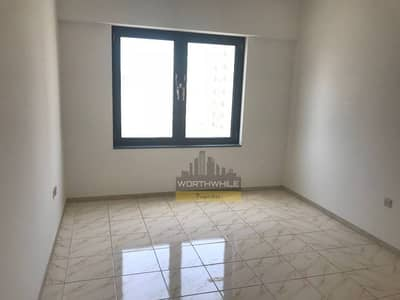 Spacious 3 bedroom apartment with spacious dry balcony is for rent only at AED 90K yrly in Najda St.