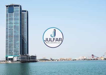 1 Bedroom Flat for Rent in Dafan Al Nakheel, Ras Al Khaimah - Unfurnished Sea View 1 BHK Apartment in Julphar Tower