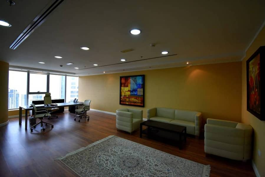 Fully furnished office for rent in platinum tower jlt ready to move