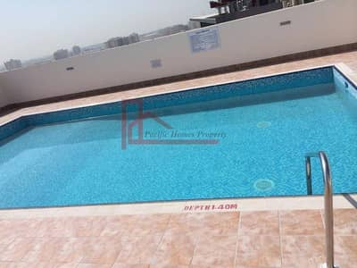 1 Bedroom Flat for Rent in Al Mamzar, Dubai - 1 Month Free (975 Sqft ) Ac Free 1Bhk wardrobes 2Bath Rent 48k/6chq