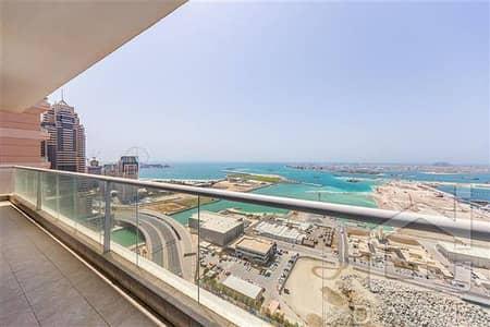3 Bedroom Flat for Rent in Dubai Marina, Dubai - Spacious 3BR + maids// Full sea view // Vacant