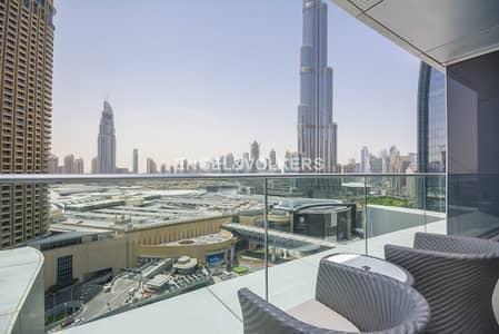 شقة 2 غرفة نوم للبيع في وسط مدينة دبي، دبي - Furnished and Vacant | Burj Khalifa View