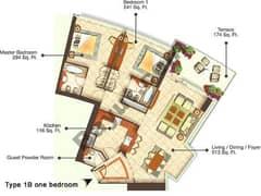 One Bedroom Type 1B