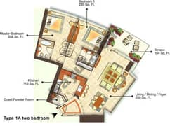 Two Bedroom Type 1A