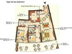 Two Bedroom Type 3A