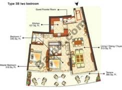 Two Bedroom Type 3B