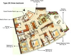 Three Bedroom Type 2B
