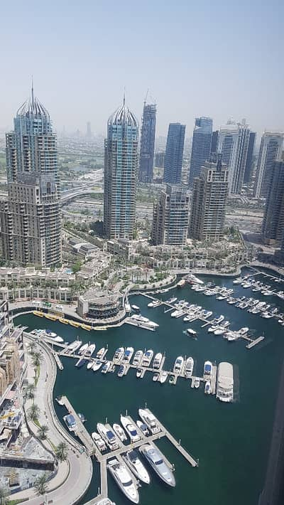 2 Bedroom Apartment for Rent in Dubai Marina, Dubai - Marina View|2 BR|Cayan Tower|High Floor.