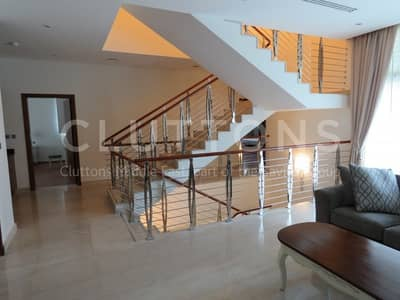 5 Bedroom Villa for Rent in The Marina, Abu Dhabi - Stunning furnished 5 bed corner villa in Marina Sunset Bay