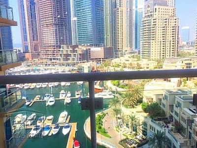 1 Bedroom Flat for Rent in Dubai Marina, Dubai - LARGE 1 BEDROOM PLUS STUDY AREA MARINA VIEW VACANT