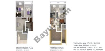 2 Bedrooms Townhouse