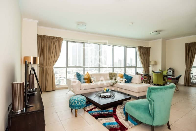Exclusive beautiful and spacious 2 plus study in Residences with full view of Bu
