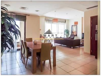 2 Bedroom Flat for Rent in Jumeirah Beach Residence (JBR), Dubai - High Floor! Fully Furnished  Apt. W/  Balcony in Shams 1