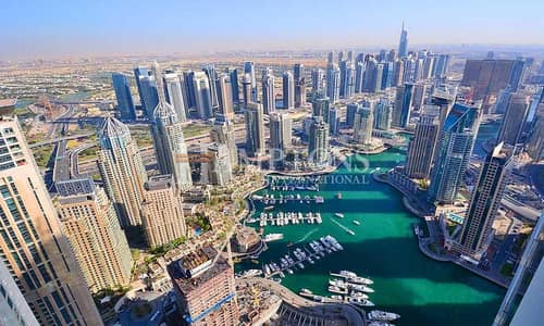 1 Bedroom Flat for Rent in Dubai Marina, Dubai - Vacant | Furnished 1BR | Partial Sea View