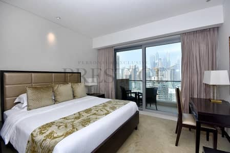 Studio for Rent in Dubai Marina, Dubai - Address Marina Hotel | Furnished | Marina View