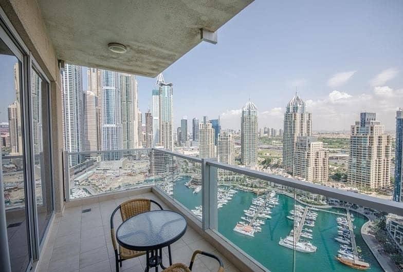 Dubai Marina |3Br+Maid |Full Marina view