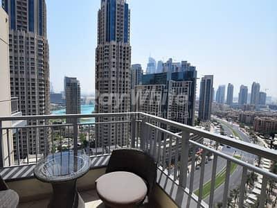 2 Bedroom Flat for Rent in Downtown Dubai, Dubai -  Corner 2 BR -  Fountain View