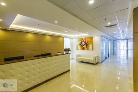 Office for Rent in Business Bay, Dubai - Fully Furnished Office space| Ejari| NO Commision| Canal view| Burj Khalifa view