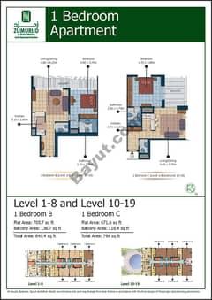 1 Bedroom Type (B,C)